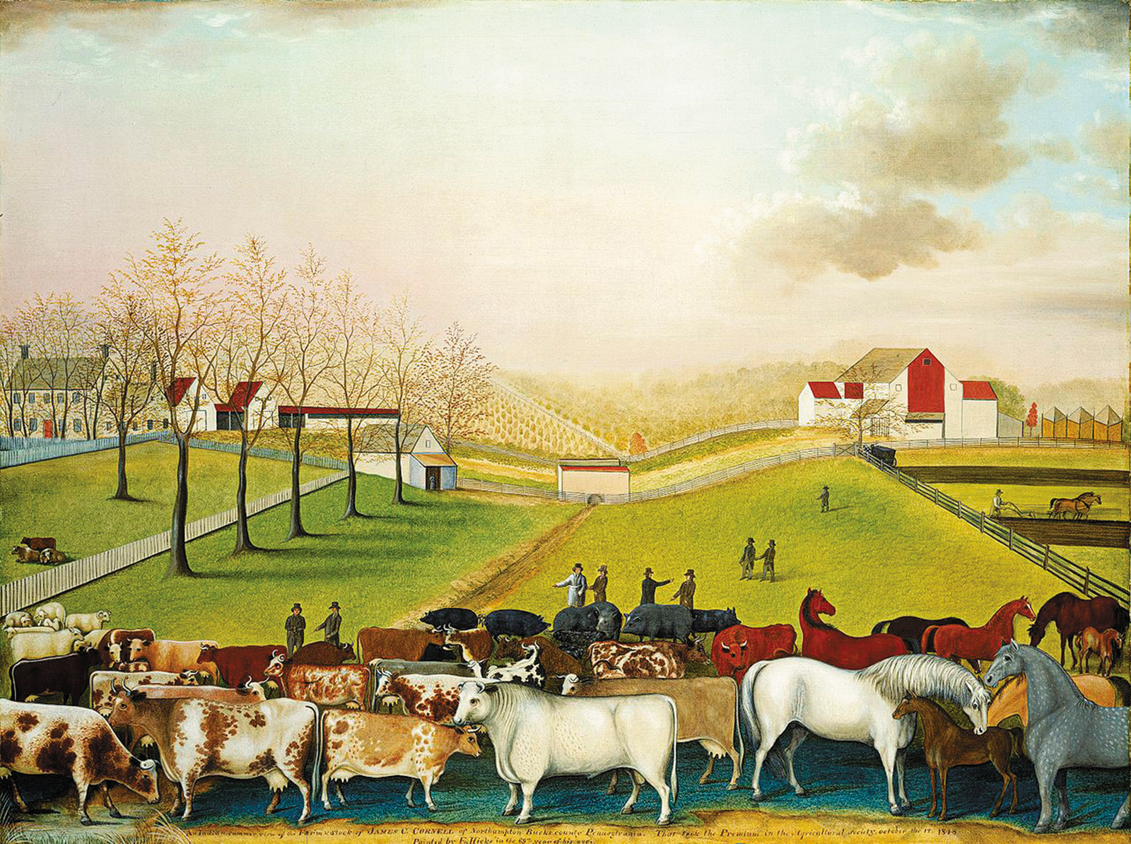 Edward Hicks: The Cornell Farm, 1848