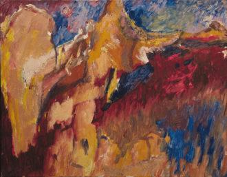 David Bomberg: Tajo and Rocks (The Last Landscape), 1956