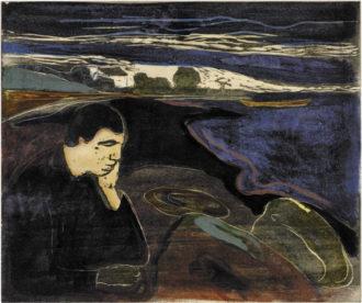 Edvard Munch: Evening, Melancholy I, 1896