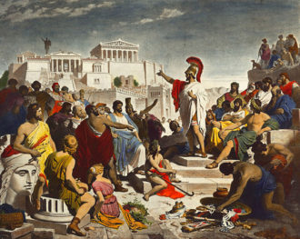 Philipp Foltz: Pericles's Funeral Oration, 1877