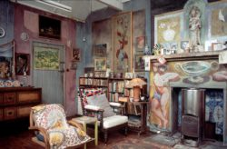 Inside Charleston, where the Bloomsbury Group created an artists' community, East Sussex, England, circa 2012