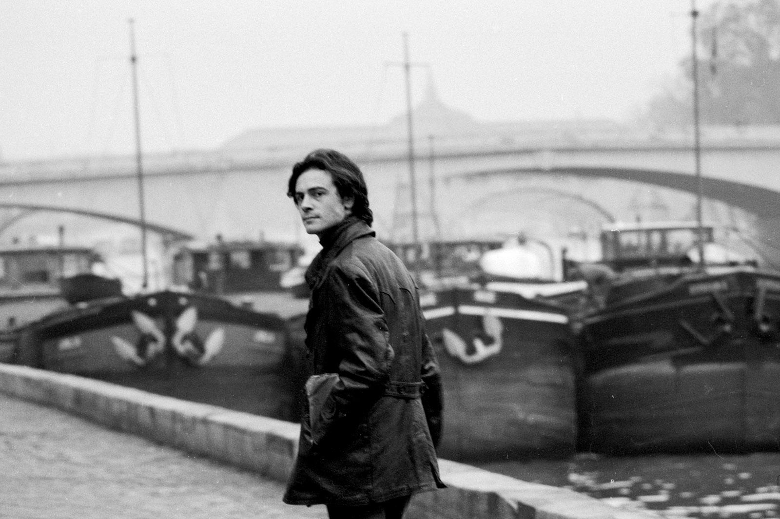 Patrick Modiano on the Quai Conti, Paris, 1969