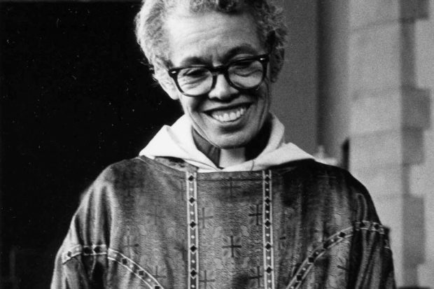 Pauli Murray at the Church of the Holy Nativity, Baltimore, 1981