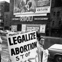 Abortion rights demonstrators, New York City, 1968