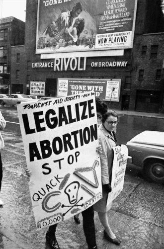 Abortion rights demonstrators, New York City, 1968