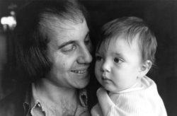 Paul Simon with his son Harper, June 7, 1973