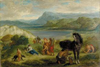 Eugène Delacroix: Ovid Among the Scythians, 1859