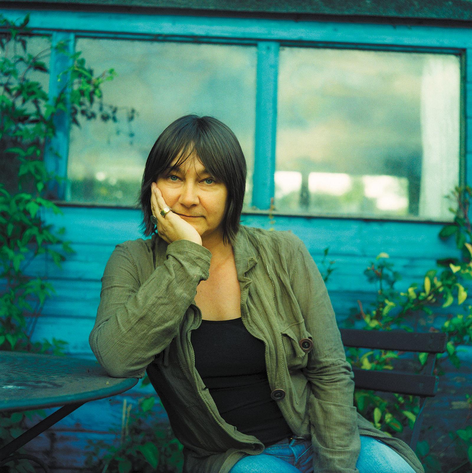 Ali Smith in her garden, Cambridge, England, 2005