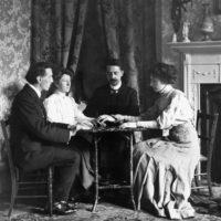 A séance, circa 1900