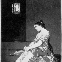 'Because She Was Susceptible'; aquatint by Francisco Goya from Los Caprichos, 1797–1799