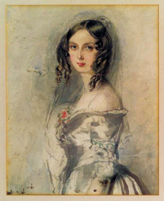 Ada Lovelace; painting by Alfred Edward Chalon, 1835
