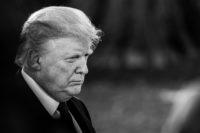 President Donald Trump speaking to members of the press outside the White House, Washington, D.C., November 20, 2018