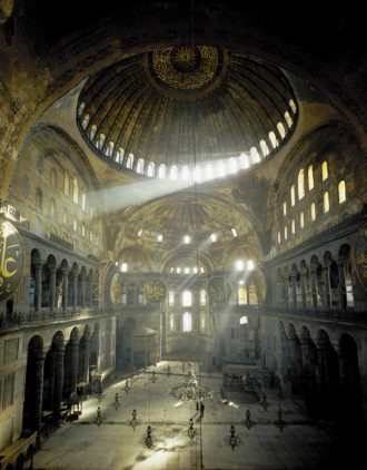 The Hagia Sophia, Istanbul, constructed circa 532–537