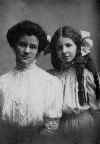 Katharine Cook Briggs and her daughter Isabel, creators  of the Myers-Briggs personality test, early 1900s