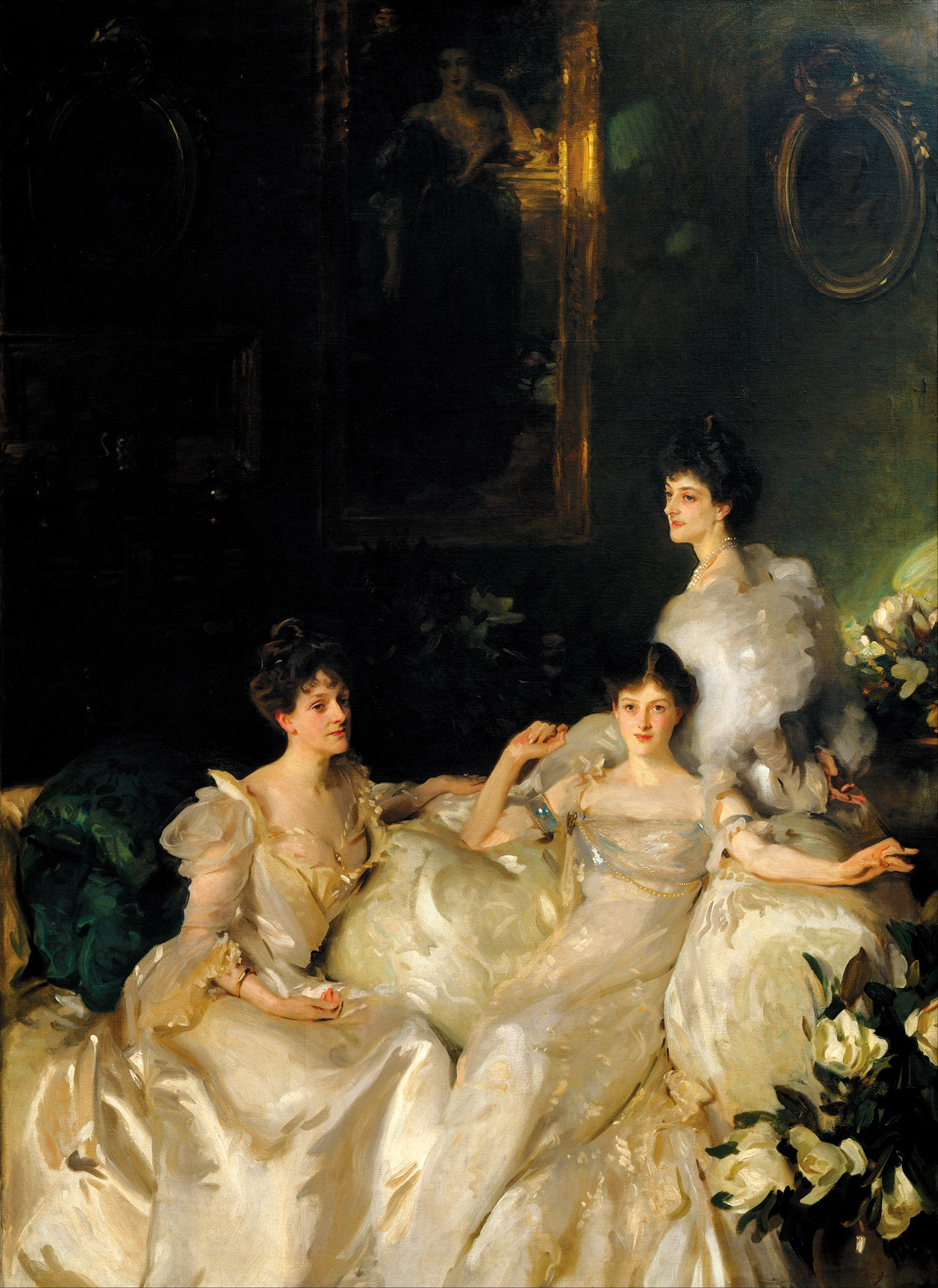 John Singer Sargent: The Wyndham Sisters: Lady Elcho, Mrs. Adeane, and Mrs. Tennant, 1899