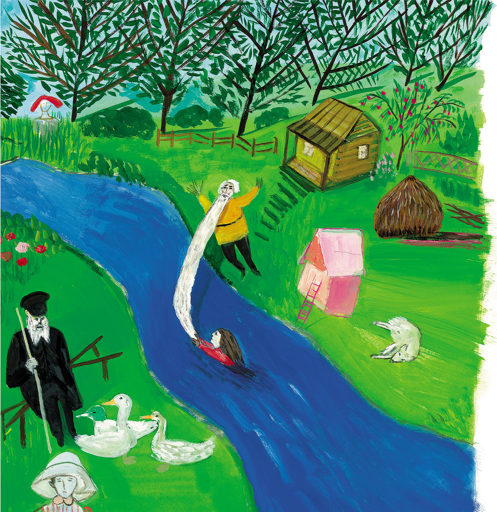 Painting by Maira Kalman from Sara Berman's Closet, an illustrated family memoir created with her son, Alex Kalman, after their museum exhibition of the same name. It has just been published by Harper Design.