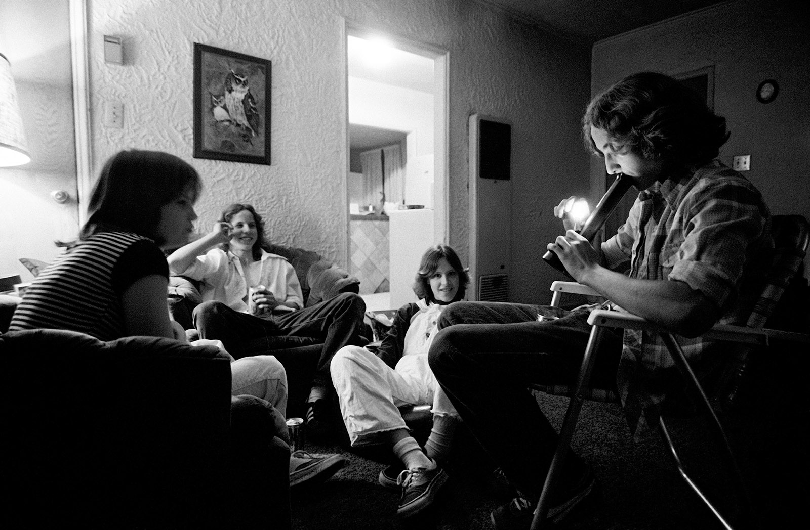 Teenagers smoking pot, Southern California, 1979