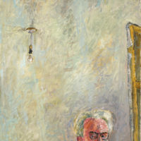 Józef Czapski: Self-Portrait with Lightbulb, 1958. An exhibition of his illustrated diaries is on view at the National Museum's Józef Czapski Pavilion, Kraków, until December 9, 2018.