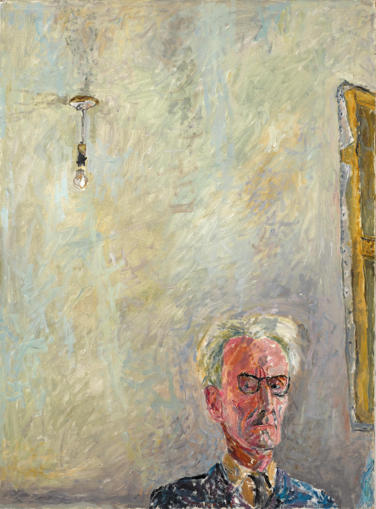 Józef Czapski: Self-Portrait with Lightbulb, 1958. An exhibition of his illustrated diaries is on view at the National Museum's Józef Czapski Pavilion, Kraków, until December 9, 2018.