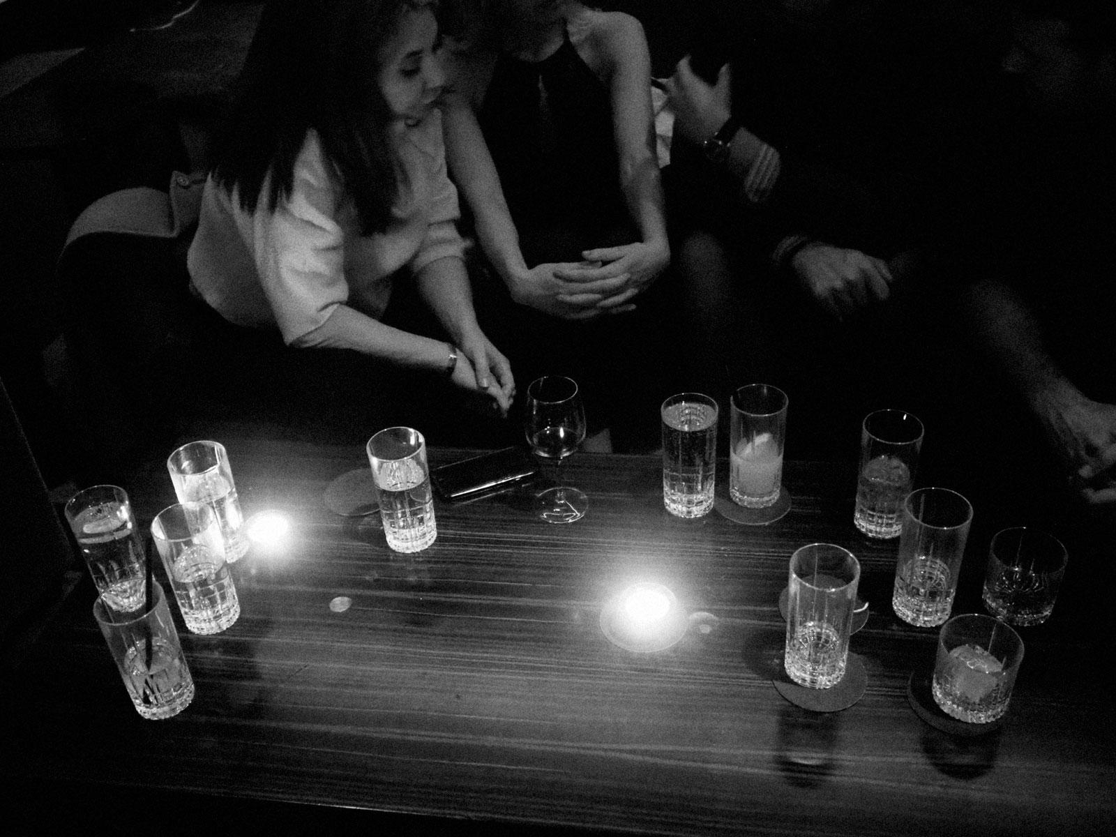 Saturday night in a bar, Manhattan, March 2018