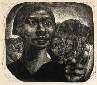 Charles White: Exodus I: Black Moses (Harriet Tubman), 1951; from the exhibition 'Charles White: A Retrospective,' on view at the Museum of Modern Art, New York City, until January 13, 2019. The catalog is published by the Art Institute of Chicago and MoMA and distributed by Yale University Press.