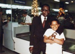 Barack Obama as a child with his father Barack Obama Sr., 1960s