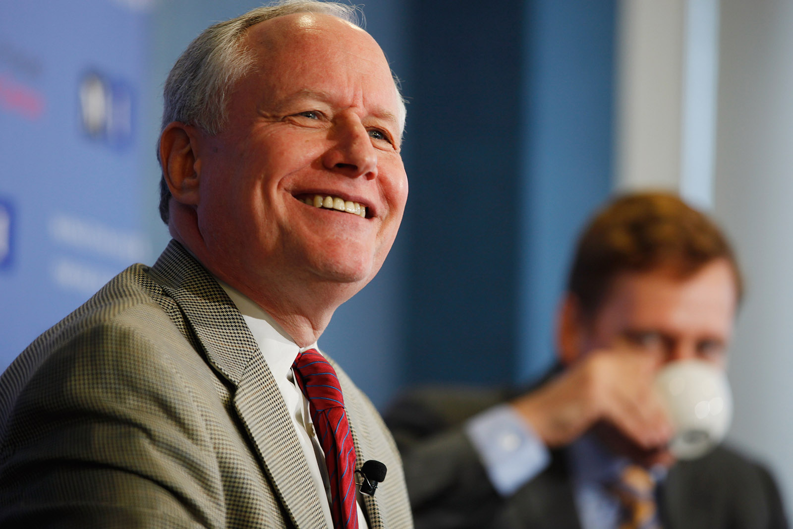 The Weekly Standard's editor, William Kristol, in a discussion at the National Press Club with Peter Thiel, Washington, D.C., October 3, 2011