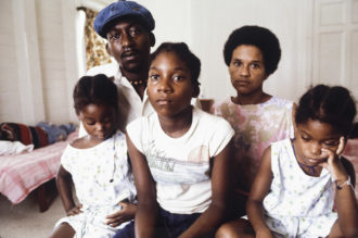 The Evans family, who survived the Jonestown massacre by walking out of the camp on the morning of November 18, saying they were going on a family picnic, United States, November 30, 1978