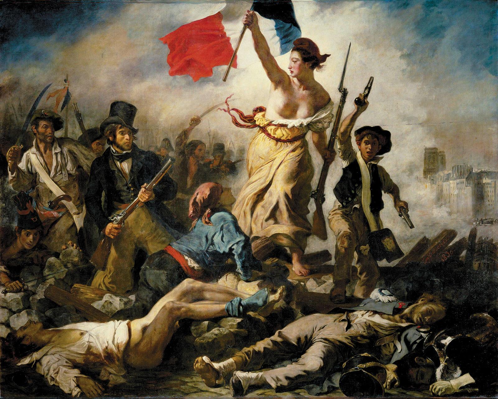 Eugène Delacroix: Liberty Leading the People, 1830
