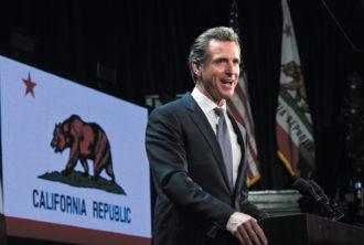 California governor-elect Gavin Newsom on election night, Los Angeles, November 2018