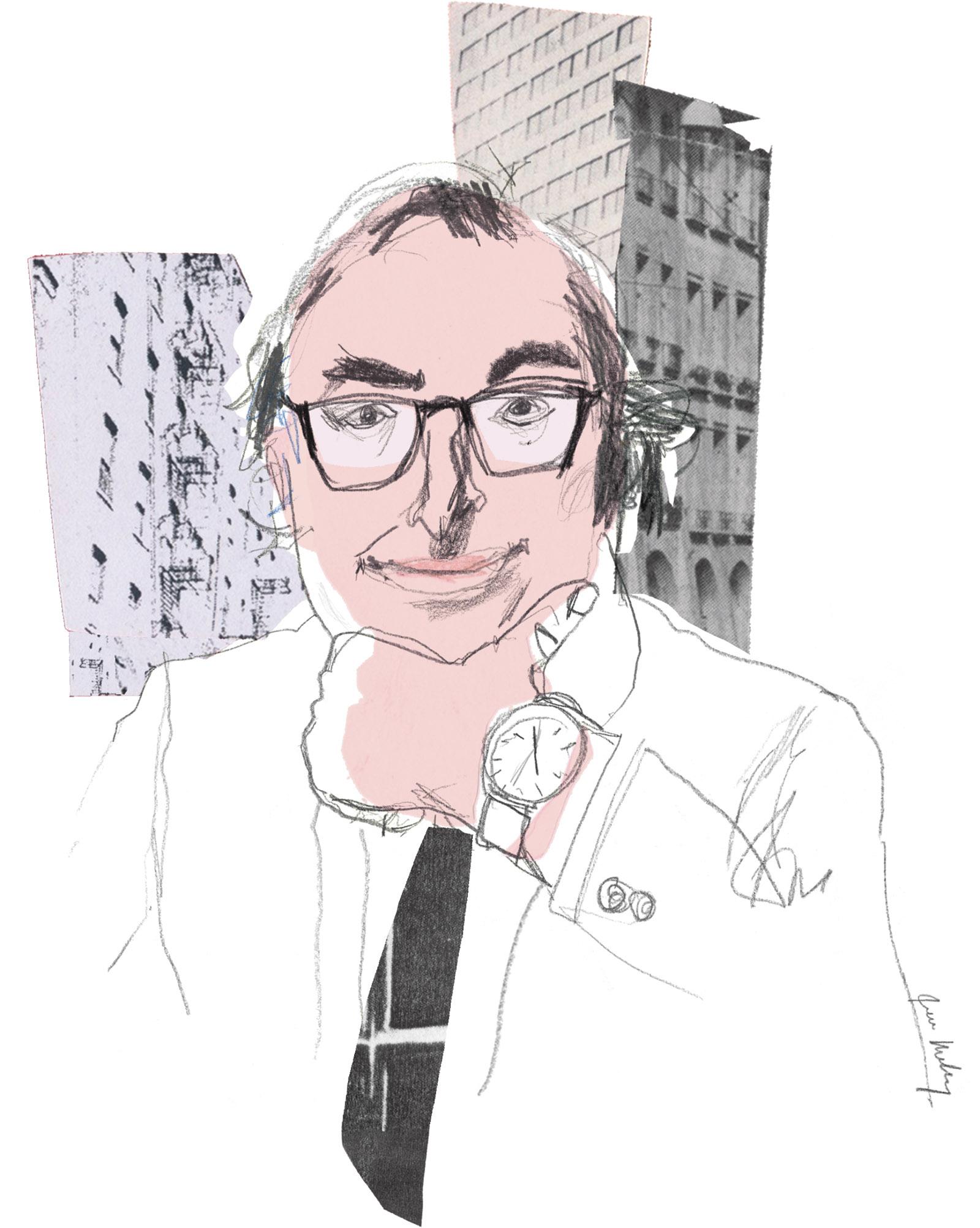 Gary Shteyngart; illustration by Joanna Neborsky