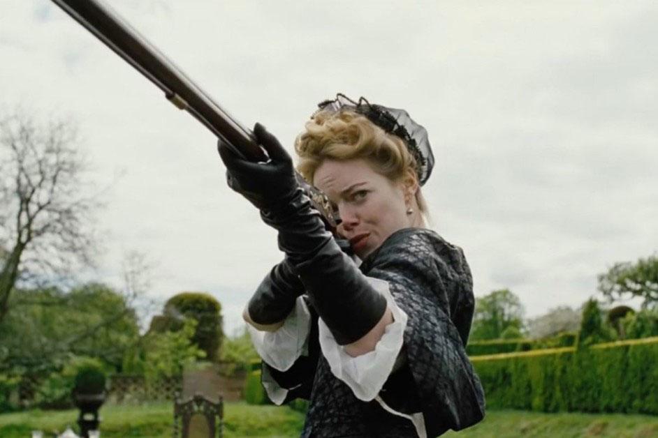 Emma Stone as Abigail Masham in Yorgos Lanthimos's The Favourite, 2018
