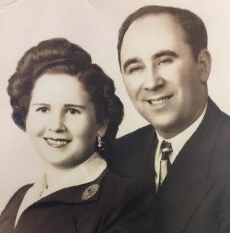 Helen and Leon Hershkowitz, Brooklyn, circa 1952