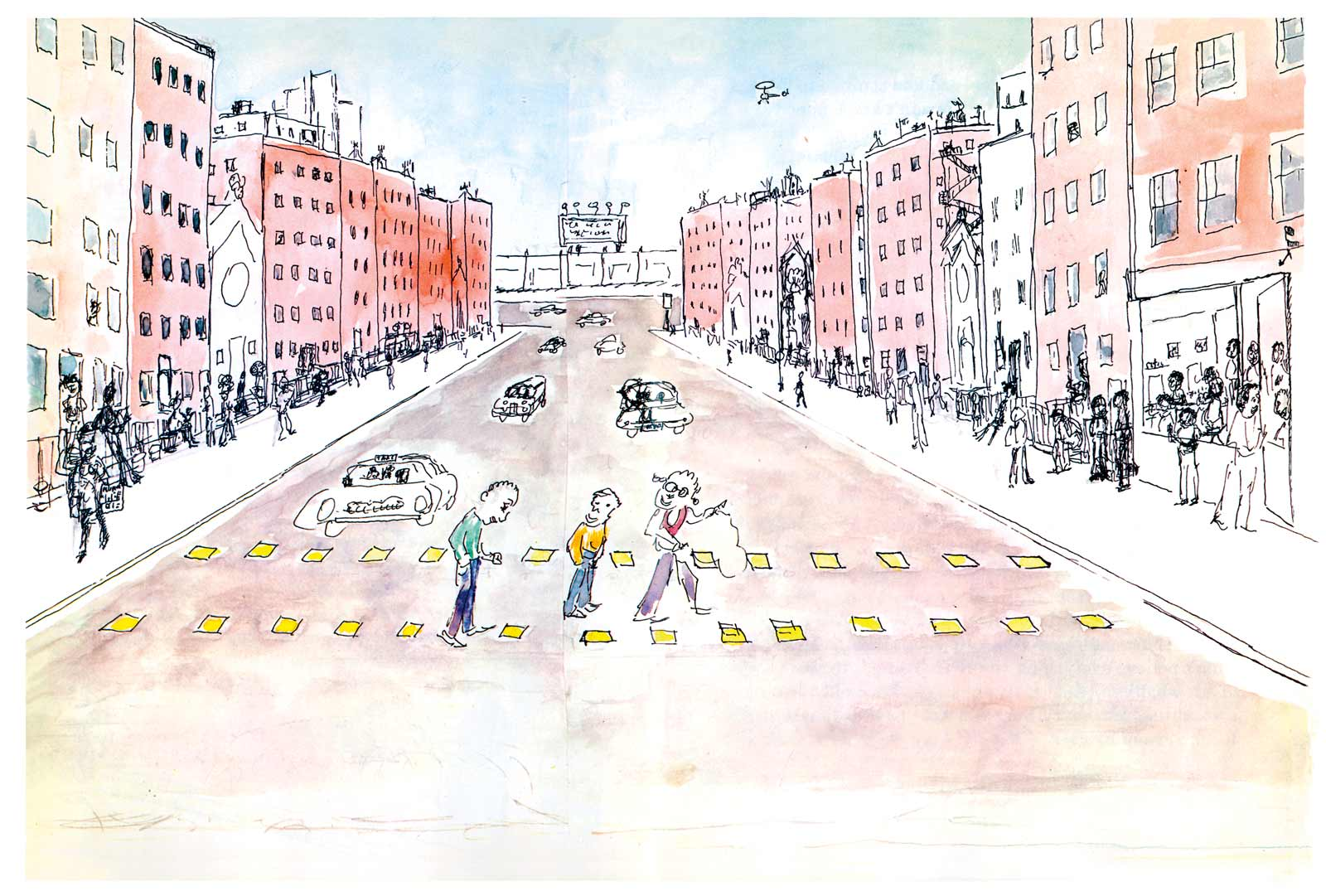 Illustration by Yoran Cazac, from James Baldwin and Yoran Cazac's Little Man, Little Man: A Story of Childhood, 2018