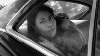 Yalitza Aparicio as Cleo in  Alfonso Cuarón's Roma, 2018