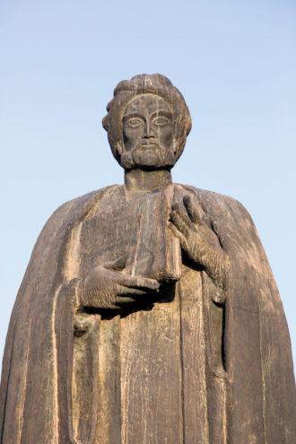 A statue of Ibn Khaldun in Tunis, Tunisia