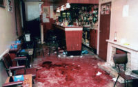 The scene at Heights Bar, Loughinisland, after six men were shot dead by Loyalist paramilitaries, June 18, 1994