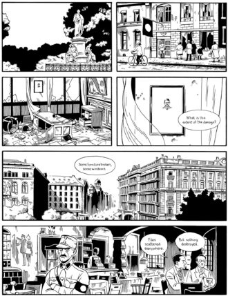 A page from the graphic novel Berlin by Jason Lutes