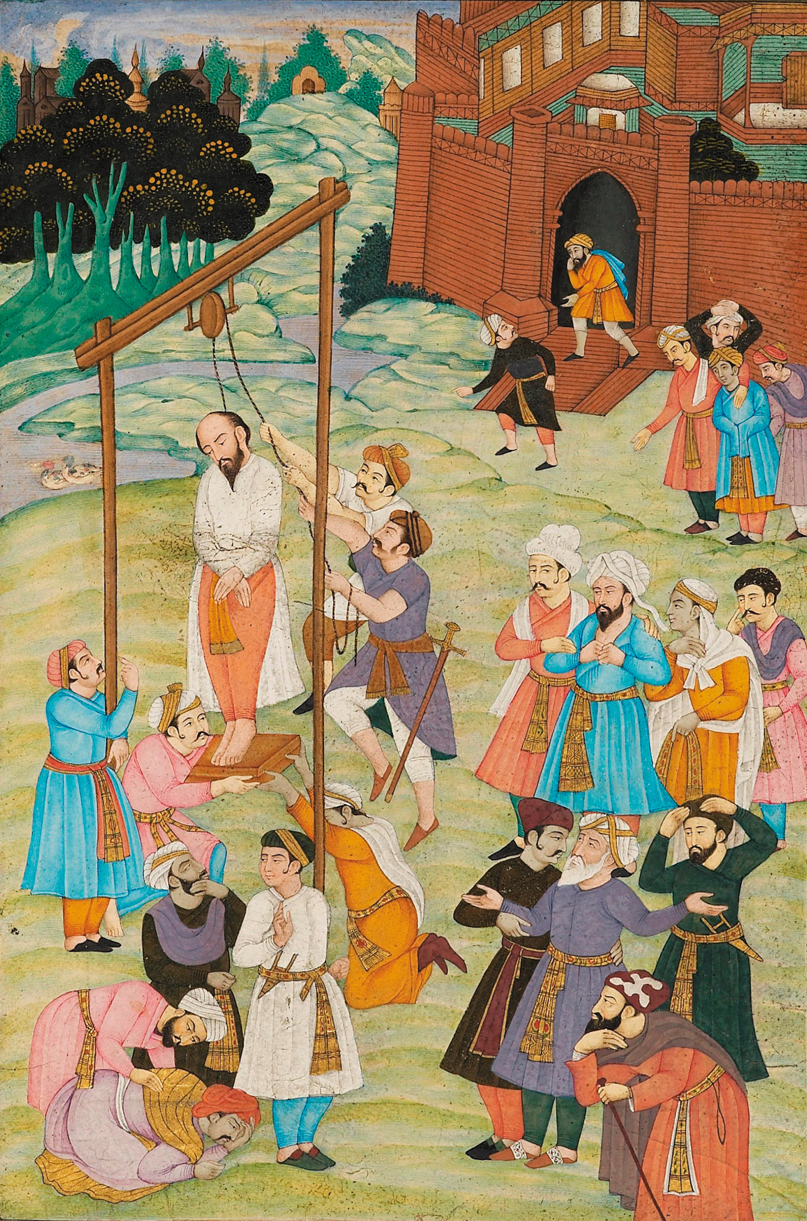 'The Hanging of al-Hallaj in 922'; attributed to Iran, late nineteenth century