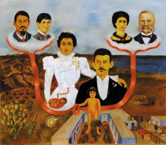 Frida Kahlo: My Grandparents, My Parents, and I (Family Tree), 1936