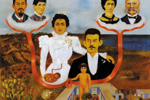 Frida Kahlo: <i>My Grandparents, My Parents, and I (Family Tree)</i>, 1936
