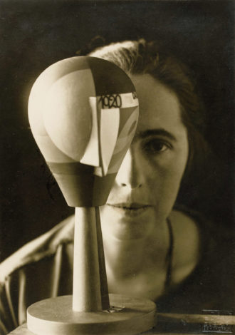 Sophie Taeuber-Arp with her Dada Head, 1920