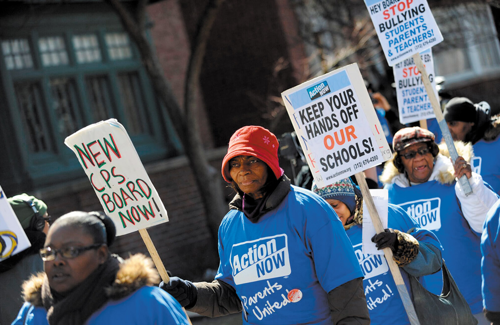Protesters against public school closings, Chicago, 2013; from the film '63 Boycott