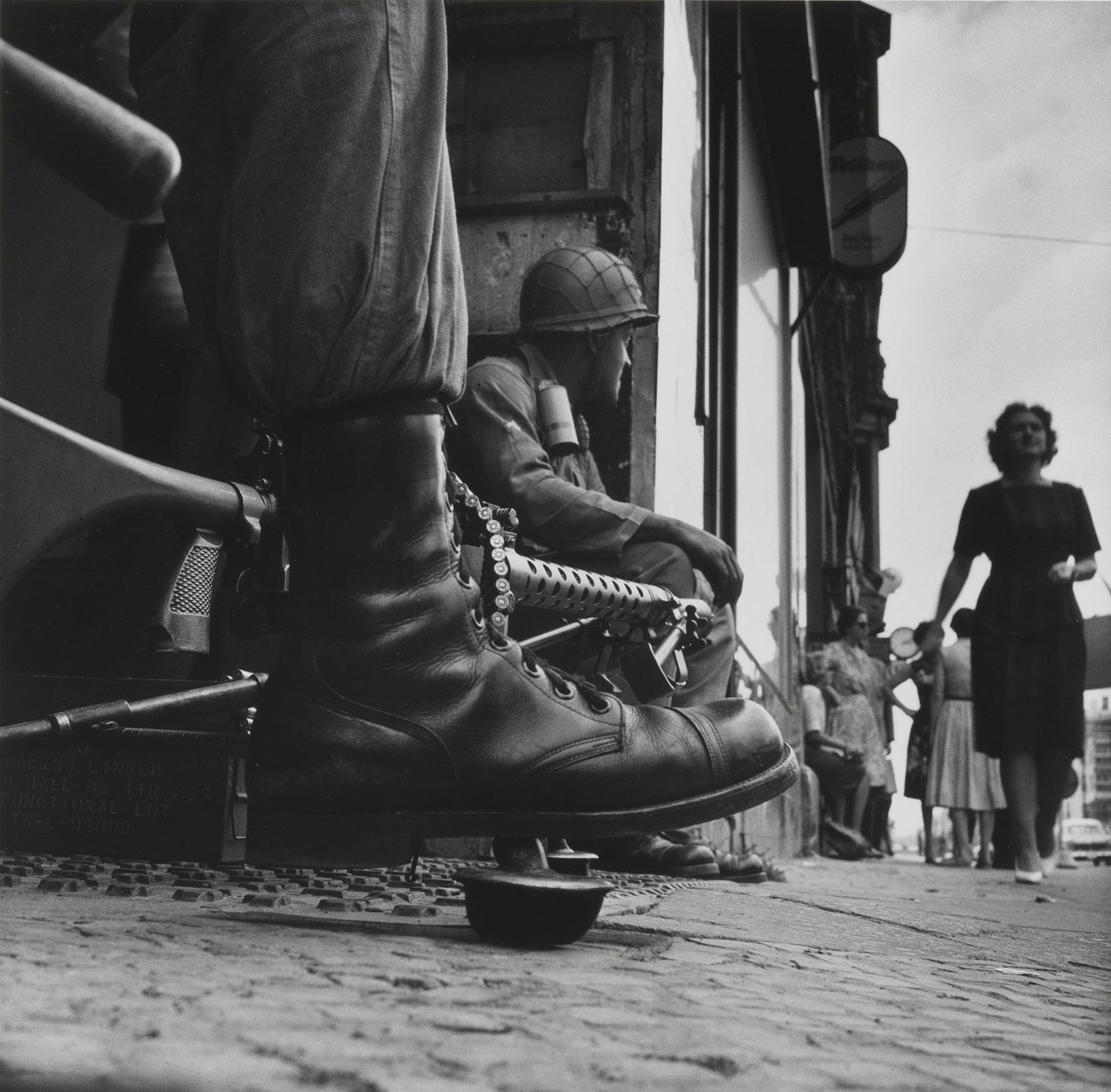 Near Checkpoint Charlie, Berlin, West Germany, 1961