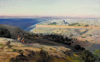 Edward Lear: Jerusalem from the Mount of Olives, Sunrise, 1859