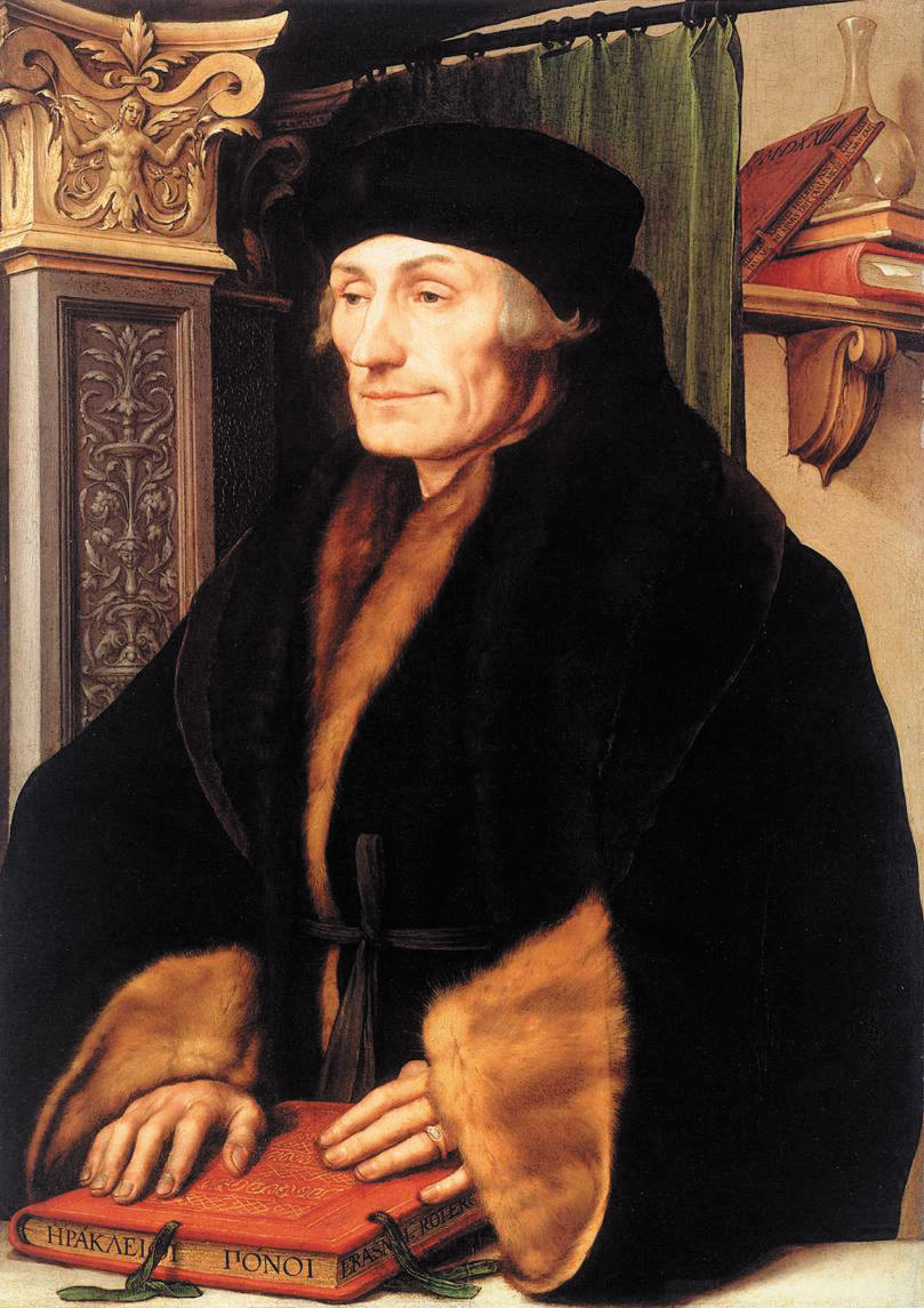 Portrait of Erasmus of Rotterdam, circa 1523 by Hans Holbein the Younger