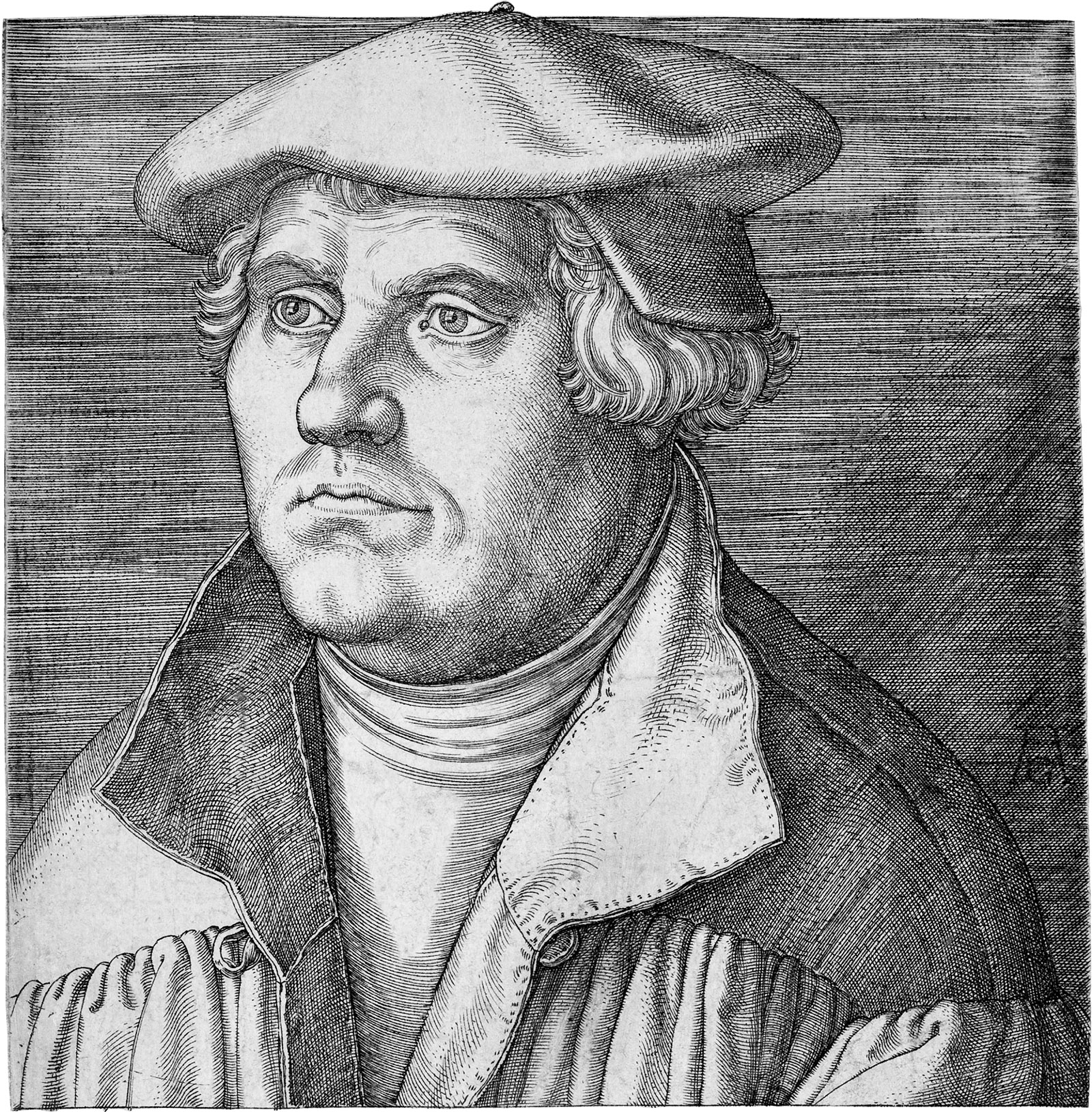 Portrait of Martin Luther, 1540 by Heinrich Aldegrever