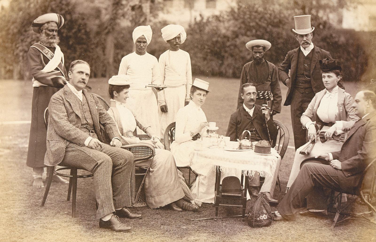A tea party in Calcutta, 1890