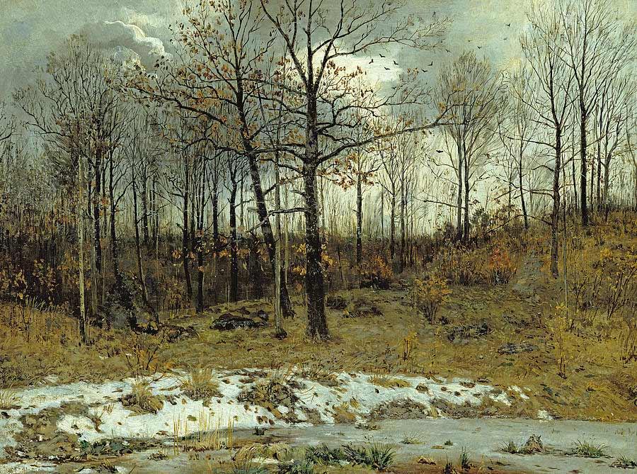 Karl Buchholz: Last Snow at Weimar, 1889