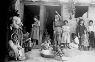 Armenian refugees in a camp at Aleppo, Syria, 1922